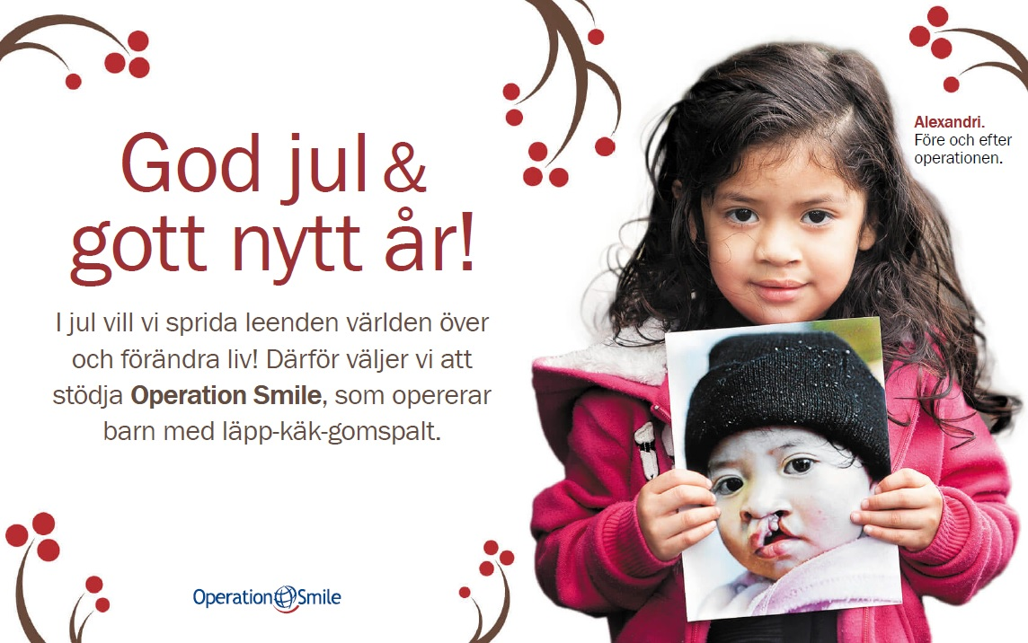 Gåvobevis Operation Smile